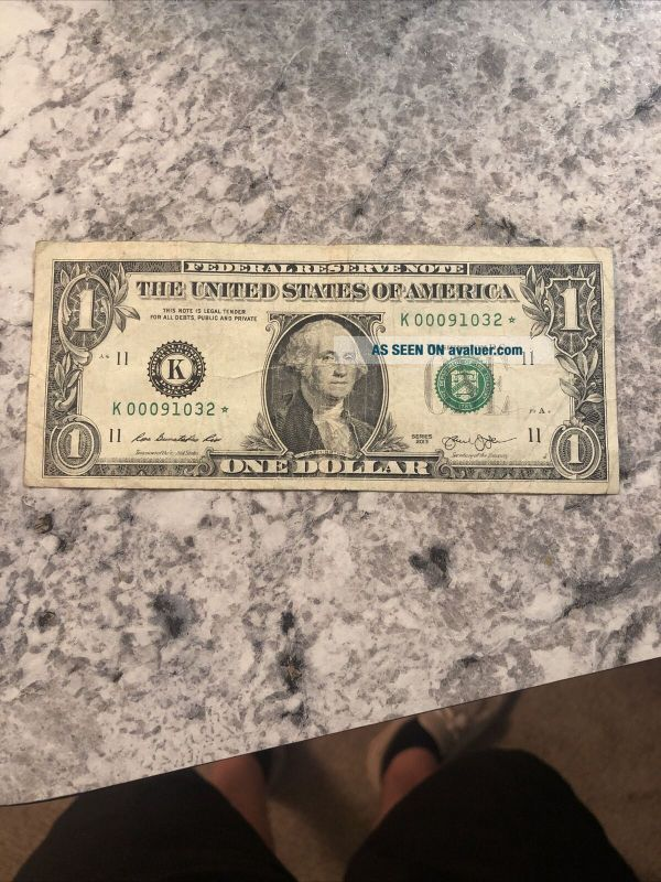 St Louis H 2017 STAR NOTE $1 Dollar Bill Uncirculated Low Number